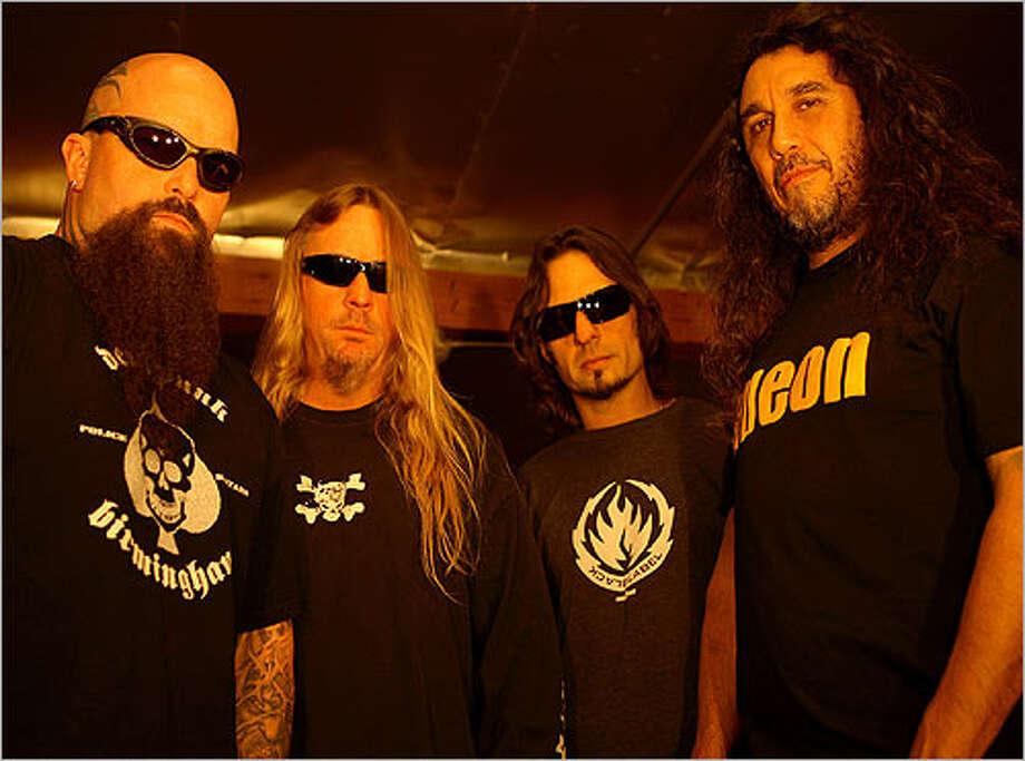 Slayer — Kerry King (from left), Jeff Hanneman, Dave Lombardo and Tom Araya.