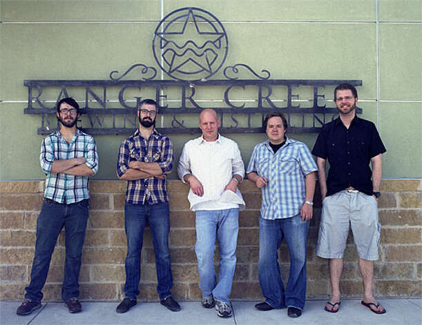 The Ranger Creek team includes Pete Landerman (from left), assistant brewer; Rob Landerman, head brewer; T.J. Miller, co-founder/head distiller; Mark McDavid, co-founder/marketing; and Dennis Rylander, co-founder/finance.