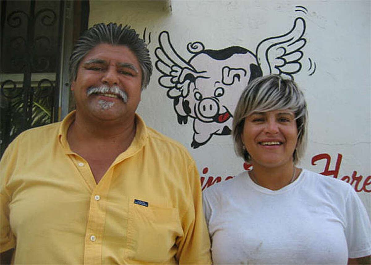 Ricardo and daughter Rochelle Arsate, Hot Spot Barbecue.