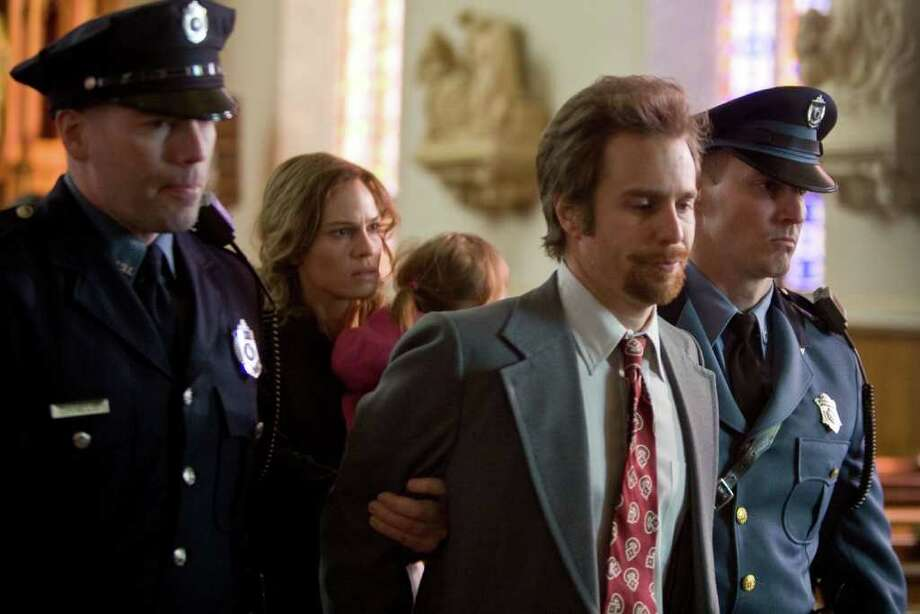 Hilary Swank and Sam Rockwell in CONVICTION. (Ron Batzdorff/Fox Searchlight)