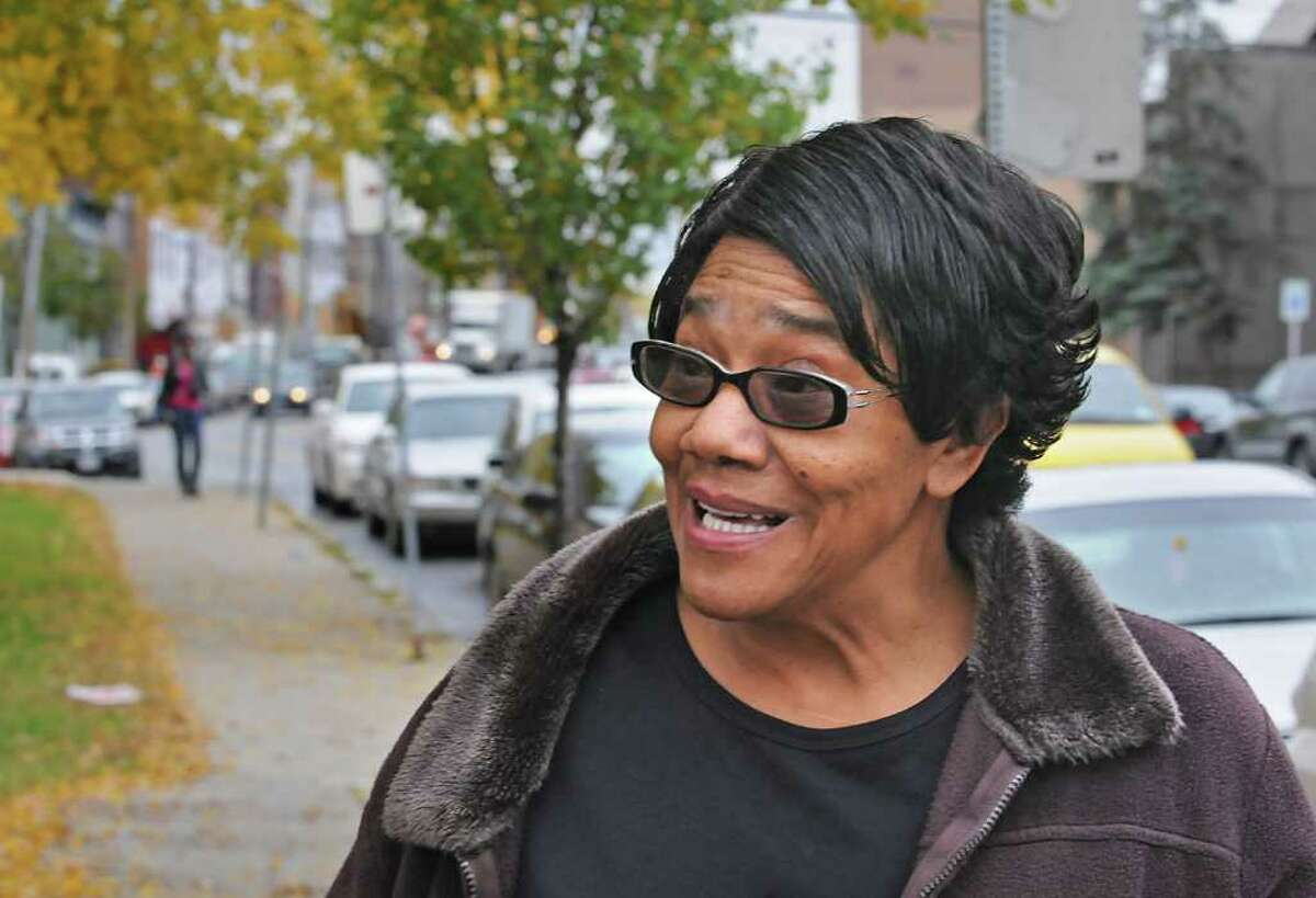 Clara Phillips, who lives up on Morton Avenue, talks about the reasons for getting bus service on Morton Avenue in Albany. (Lori Van Buren / Times Union)