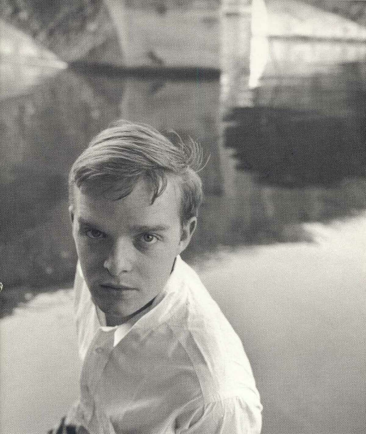 Truman Capote, who lived in Greenwich and attended Greenwich High School from 1939 to 1941, is shown in this photo from the late 1940s. Photo courtesy of the Greenwich Historical Society.