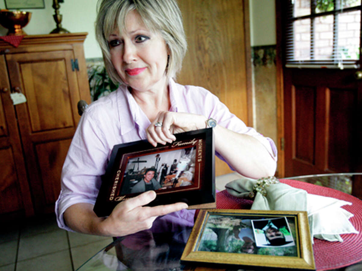 Anita Goodman talks about her son, Aaron, who died from an overdose of prescription drugs. She has been a key person lobbying for new state laws since her son died from his addiction. He was a Lamar University student. Melissa Phillip/Houston Chronicle
