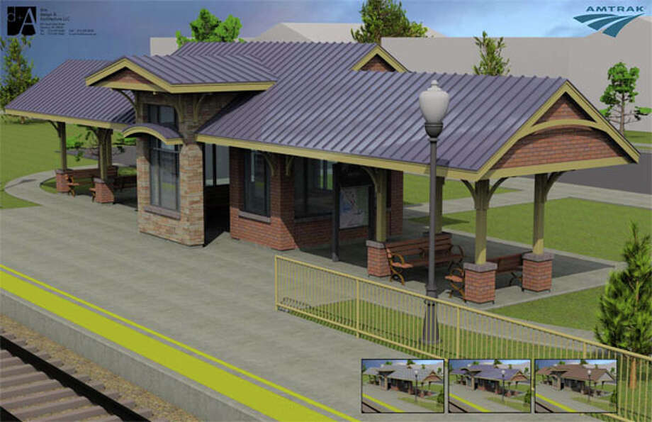An artist's rendering depicts the Amtrak depot that will replace Beaumont's concrete slab. Photo provided by Amtrak