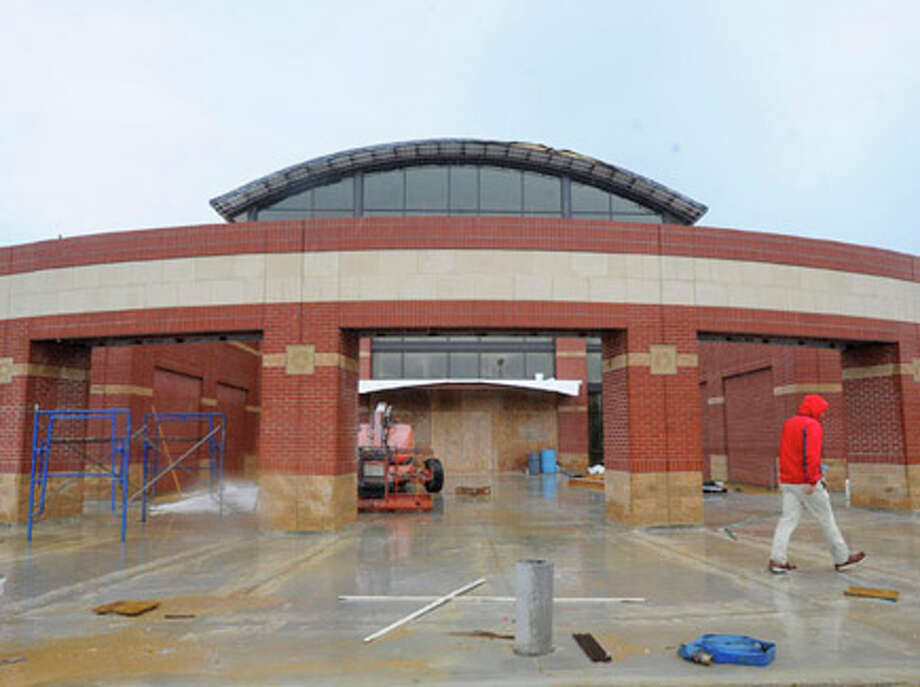 The new Lamar field house is well on its way to completion for the opening season in September. Thursday, July 1, 2010. Valentino Mauricio/The Enterprise