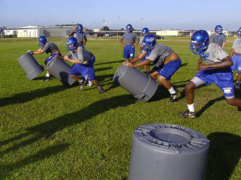 West Brook was one of five schools in the area that started two-a-day football practice Monday. Dave Ryan/The Enterprise / Beaumont