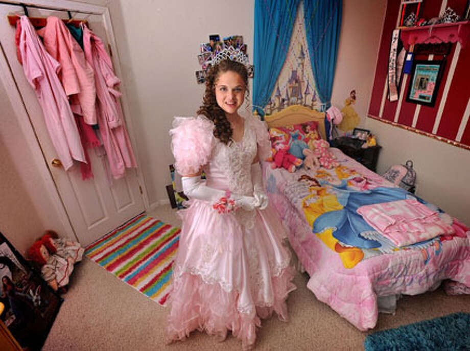 Diagnosed with autism, Bailey Williams, 19, was voted prom queen at Lumberton High School earlier this month. A fan of fairy tales and Disney characters, Williams attended the event as a princess. Guiseppe Barranco/The Enterprise / Beaumont