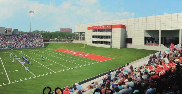 Artist rendering of the Morgan Suites at Lamar's football field. Guiseppe Barranco/The Enterprise / Beaumont