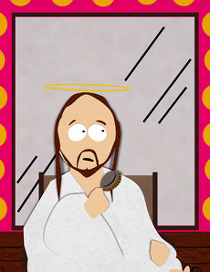 "Jesus in South Park on Comedy Central.  ""The Mexican Staring Frog of Southern Sri Lanka.""  Credit: Comedy Central / handout email / Lana Berkowitz"