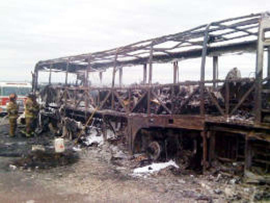 Although the 25 students on this bus lost all their belongings ? including band instruments, clothing and souvenirs ? they, their seven chaperones and the driver escaped injury. Brandon Richards KPLC (Lake Charles, La.)