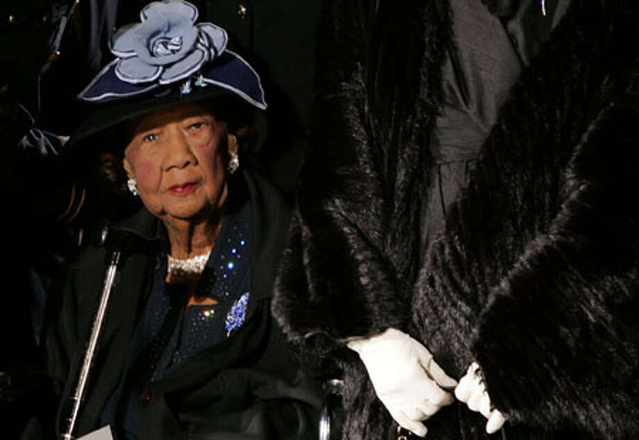 Civil rights activist Dorothy Height, who as longtime president of the National Council of Negro Women was the leading female voice of the 1960s civil rights movement, died today. She was 98. AP file photo / AP