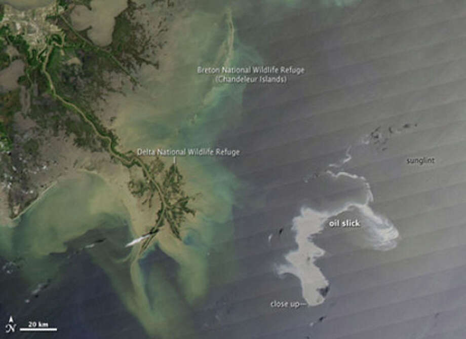 The spill as seen from space.