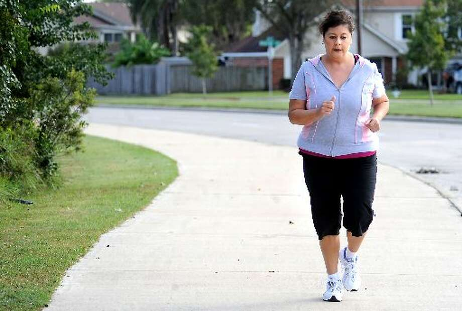 Andrea Munoz practices for the Gusher Marathon that she'll compete in this May. Tammy McKinley/ The Enterprise