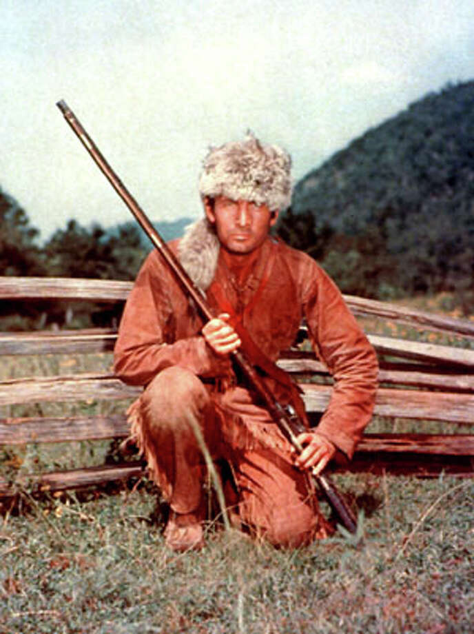 """Fess Parker is shown Davy Crockett in Disney's, """"Davy Crockett.""""  Parker died Thursday of natural causes at his Santa Ynez home near the Fess Parker Winery. He was 85. (The Associated Press) / Disney"""