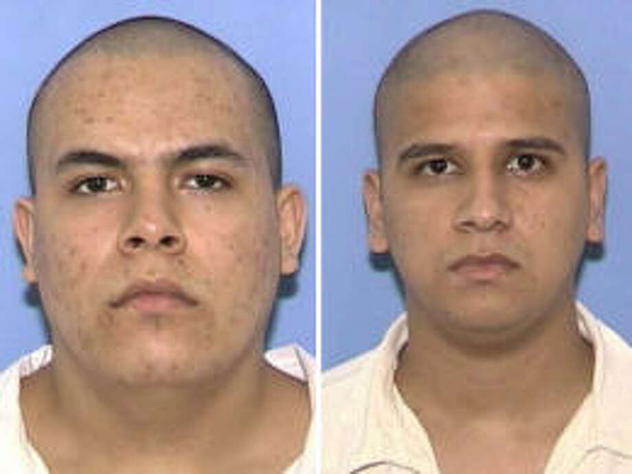 Jose Bustos-Diaz, left, and Octavio Lopez escaped Tuesday from the Dolph Briscoe Unit in Dilley.
