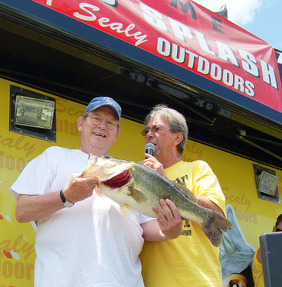 Day 1 leader of McDonald's Big Bass Splash on Toledo Bend George Clay.