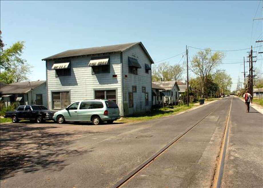 Long Avenue in Beaumont features a railroad track in the middle of the street that runs through a residential area and leads to the Port of Beaumont. Pete Churton/The Enterprise