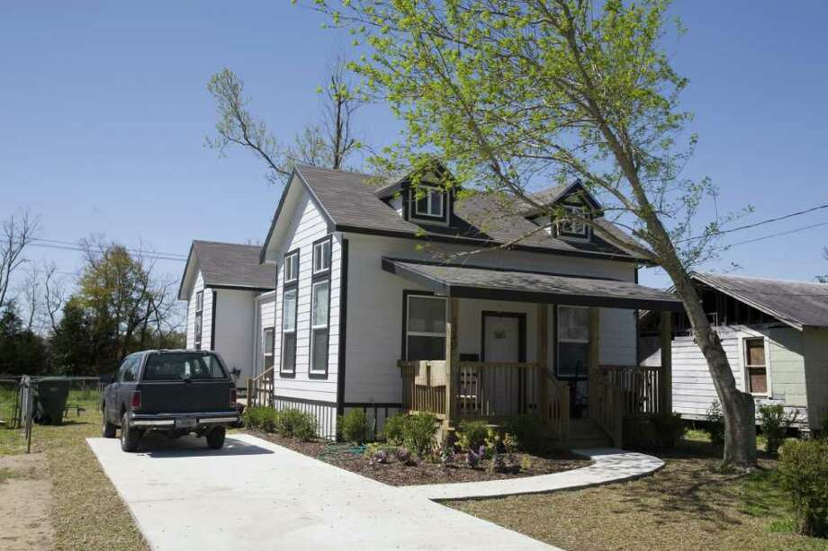 An example of low-income disaster housing that can be ready in six to eight weeks after a hurricane or tornado and cost no more than $65,000.  The idea is to take the $125,000 spent on FEMA trailers that provided temporary housing and were scorned by many communities and spend it on well-designed, durable housing that can be changed to accommodate the needs of each community. Four designs were chosen after competition among 83 teams of Texas architects and demonstration projects of 12 to 15 homes will be built in Galveston, the Houston area the Brownsville area by the end of the year. Eric Kayne/For the Chronicle / Beaumont