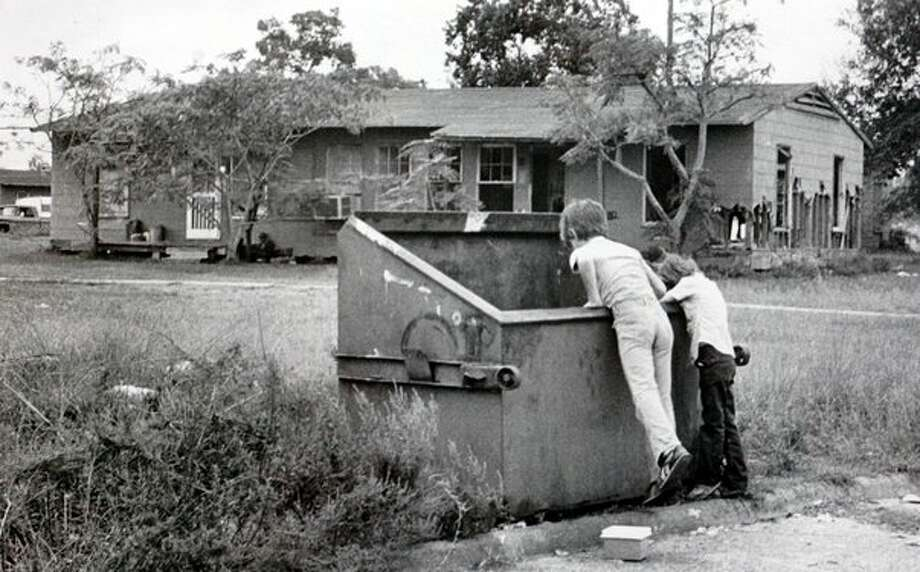 A couple of young boys play in the Riverside neighborhood in Orange in October, 1981. Enterprise file photo / Beaumont