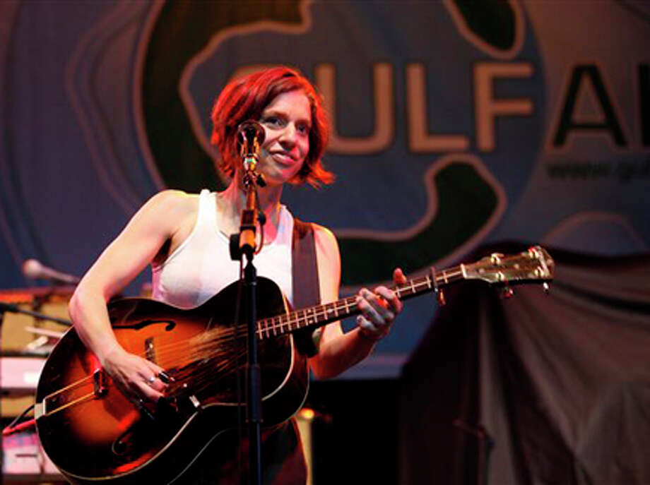 Ani DiFranco performs at the GulfAid benefit concert for the Deepwater Horizon oil spill efforts Sunday in New Orleans. AP Photo/Gerald Herbert / AP