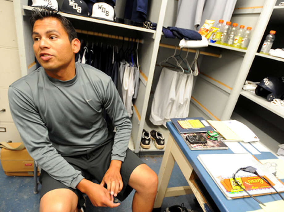 West Orange-Stark baseball coach Jessie Riojas talks about the number of superstitious rituals he performs before each practice and game at West Orange-Stark High School. Tammy McKinley/The Enterprise / Beaumont