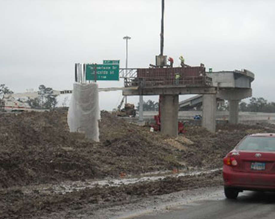 The Texas 12 overpass to Interstate 10 in Vidor is one of the final sections of the $78 million project to revamp the freeway through the city. The city also has plans to grow. Mike D. Smith/The Enterprise