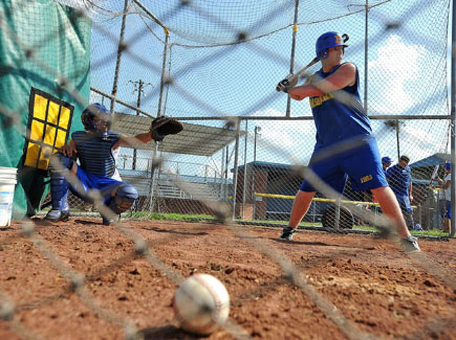 Evadale's Tyler Tucker practices. Guiseppe Barranco/The Enterprise / Beaumont