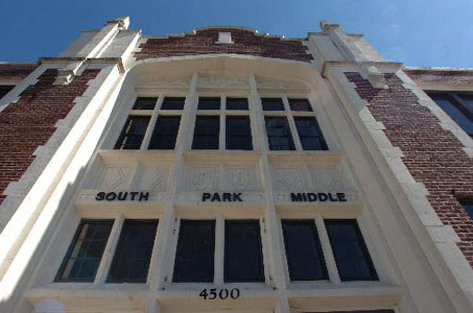 The South Park Middle School builidng on Highland Avenue in Beaumont could be gone by May and construction of the new building could start. Pete Churton/The Enterprise