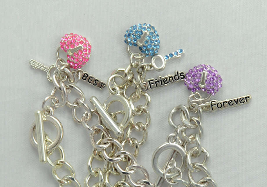 About 19,000 'Best Friends' charm bracelets were recalled because of high levels of cadmium, which can harm the kidneys and bones and is a known carcinogen. / U.S. Consumer Product Safety Commission