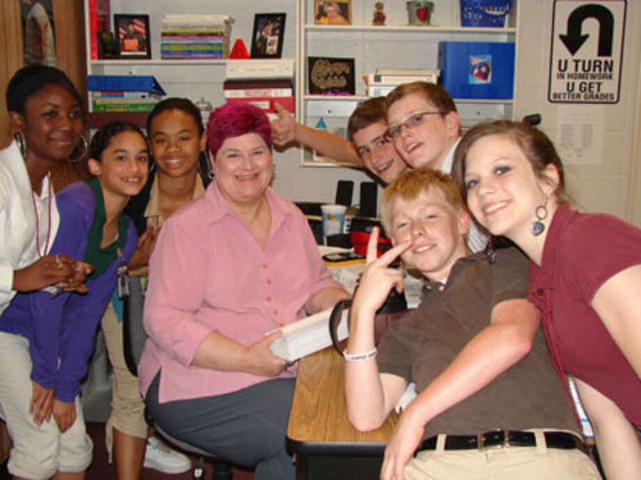 Passing math TAKS test = pink hair for teacher