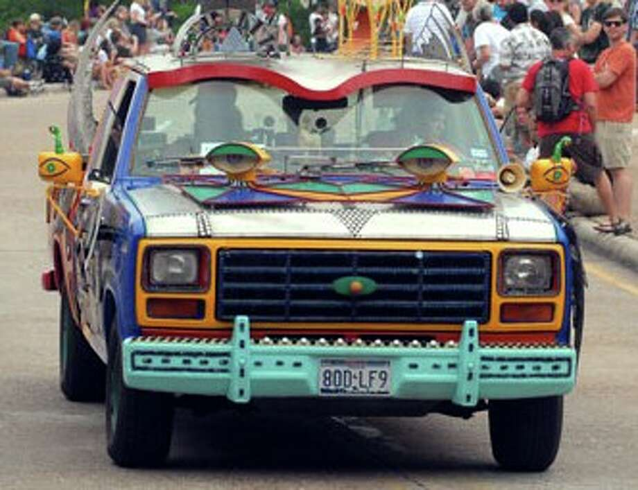 The 23rd Annual Houston Art Car Parade rolled down Allen Parkway in Houston on Saturday afternoon.