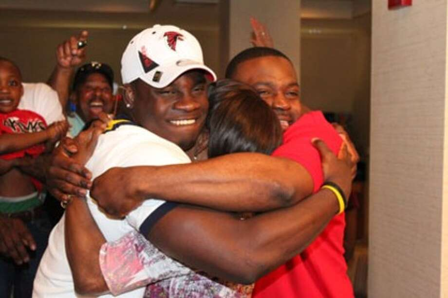 Sean Weatherspoon celebrates with his family and friends.