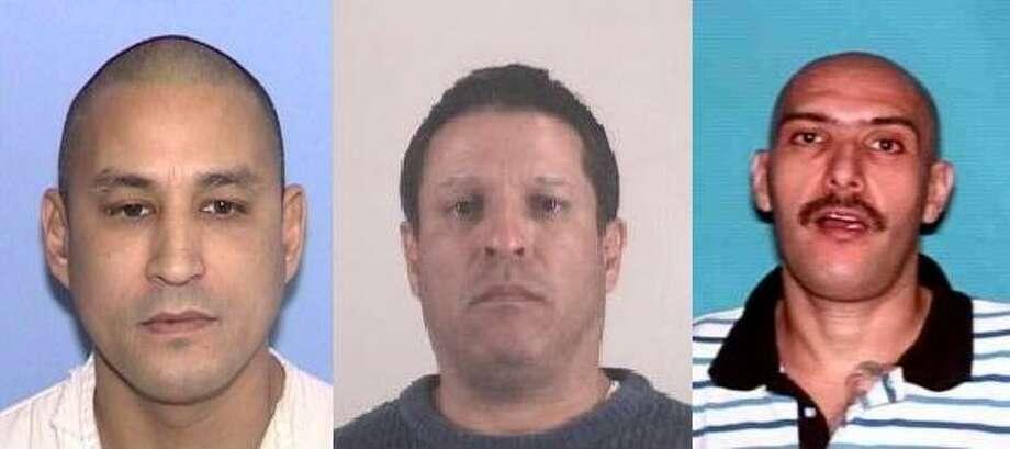 From left: George Felix Deleon, Arturo Olvera and Hector Hugo Zambrano Jr. Photos courtesy Texas Department of Public Safety
