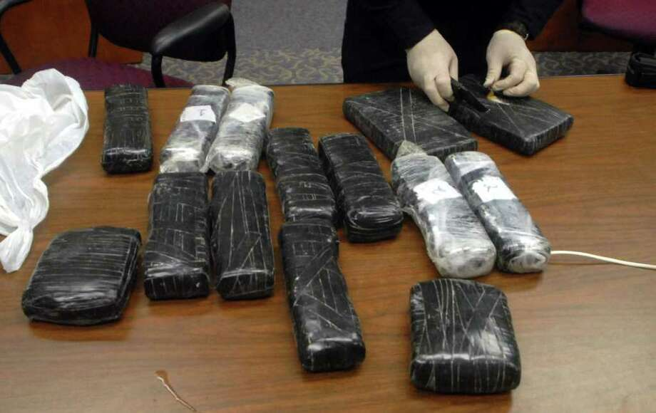 The Jefferson County Sheriff's Department yesterday found nine kilos of cocaine hidden in secret compartments in a pickup truck during a traffic stop on Interstate 10 East near mile marker 840. Beth Rankin/The Enterprise