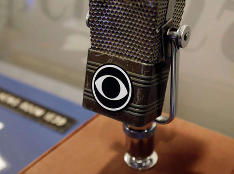 A vintage CBS microphone is seen at the Walter Cronkite exhibit at the LBJ Library in Austin. AP Photo/Eric Gay / AP