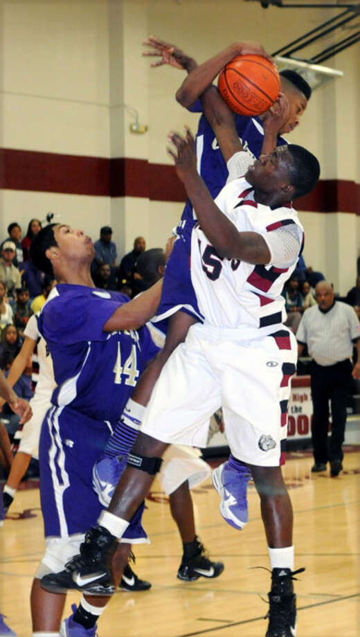 Jasper?s De'Rez Thompson goes up for a rebound during a recent game.