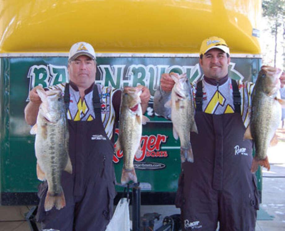 Bass N Bucks winners on Rayburn Feb. 20, 2010