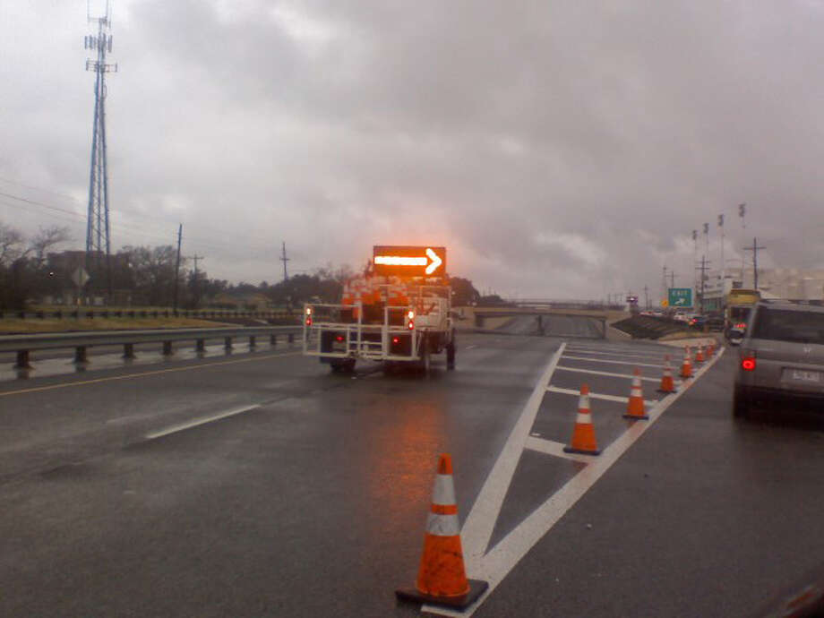 Rain this morning caused officials to divert traffic on Martin Luther King Jr. Parkway because of potential flooding under the overpass. All accidents and blocked roadways are now clear. Monique Batson/The Enterprise