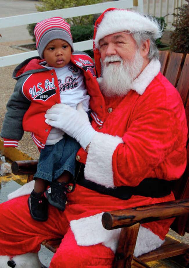 Santa and his little helper.