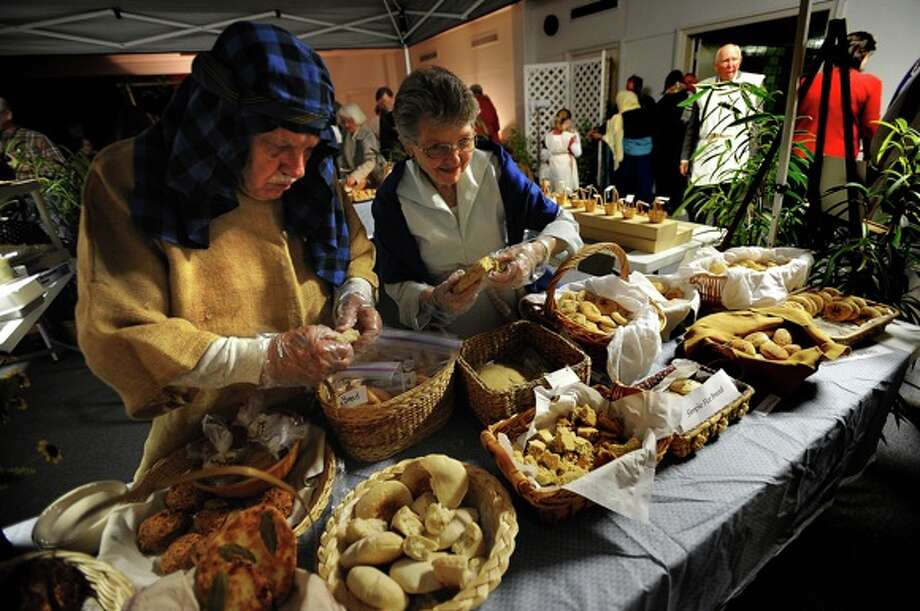 A variety of authentic foods including breads and desserts were offered during the celebration. Guiseppe Barranco/The Enterprise