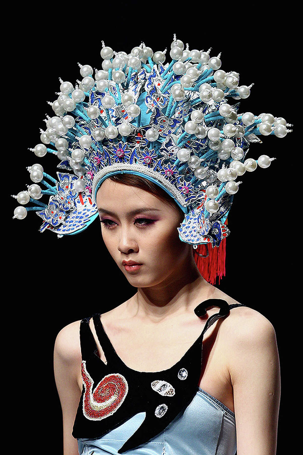 BEIJING - OCTOBER 28: A model walks the runway during Ordifen Cup China Lingerie Design Contest 2010 at China Fashion Week Spring/Summer 2011 on October 28, 2010 in Beijing, China. (Photo by Feng Li/Getty Images)