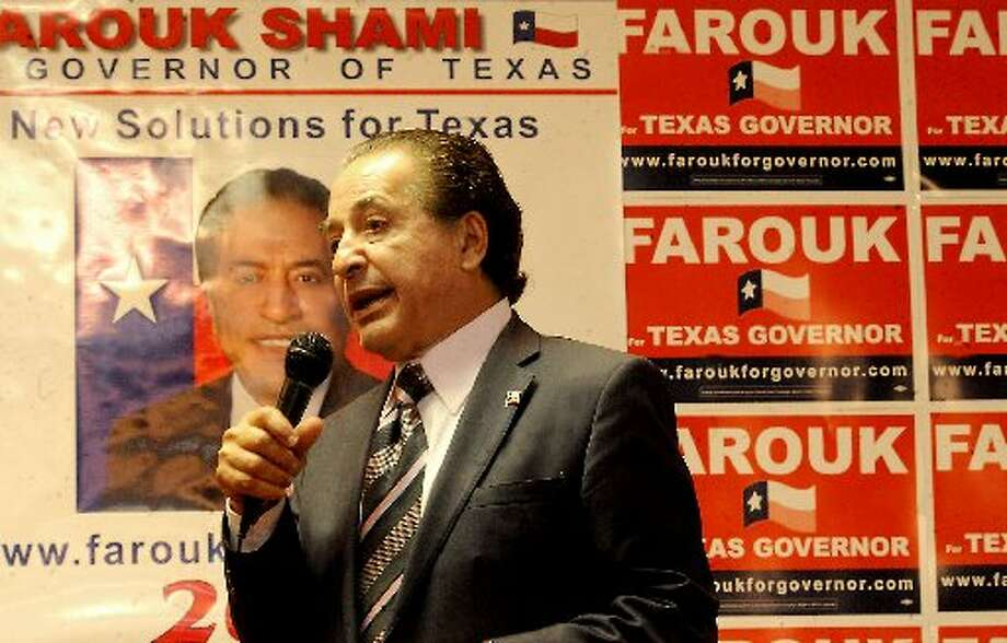 Texas gubernatorial candidate Farouk Shami speaks at a luncheon in Beaumont, Thursday. The event was sponsored by the Lamar University's Muslim Student Association. Tammy McKinley/ The Enterprise