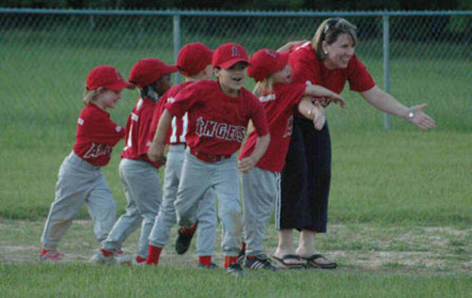 Coaches also volunteer their time to teach the players all about the sports of baseball and softball.