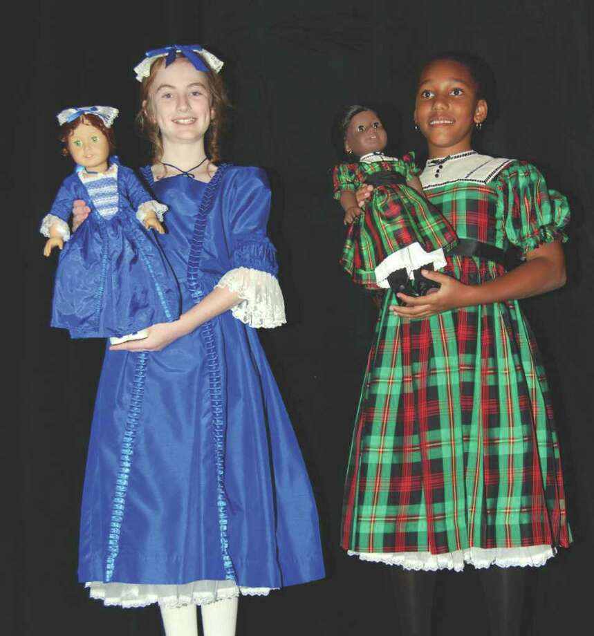 """Dolls """"Felicity"""" with Claire Tierney and """"Addie"""" with Lauren Smith. Photo: Jeanna Petersen Shepard / New Canaan News"""