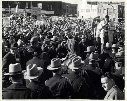 Bridgeport History Center, photographer Alexander Feldman  On Nov. 6, 1960, Democratic presidential candidate John F. Kennedy held an afternoon rally in Bridgeport Photo: Contributed Photo / Connecticut Post Contributed