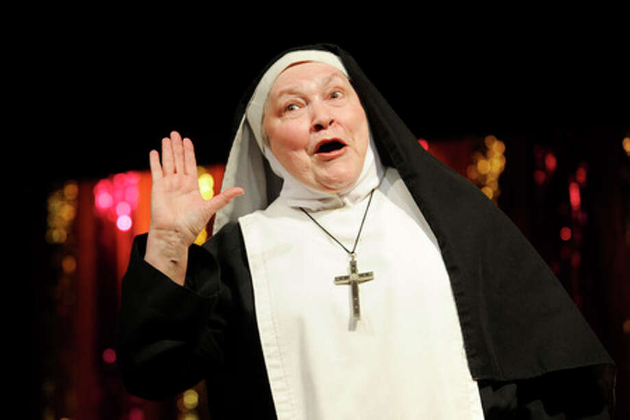 Susan Tiger  as Mother Superior in Orange Community Players production of Nunsensations.   Tuesday, April 8, 2009.  Valentino Mauricio/The Enterprise