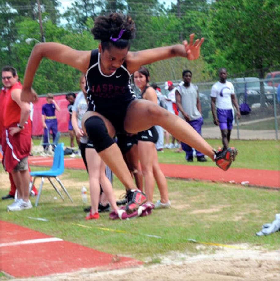 Jasper?s Breeunna Hafford won first place in triple jump.
