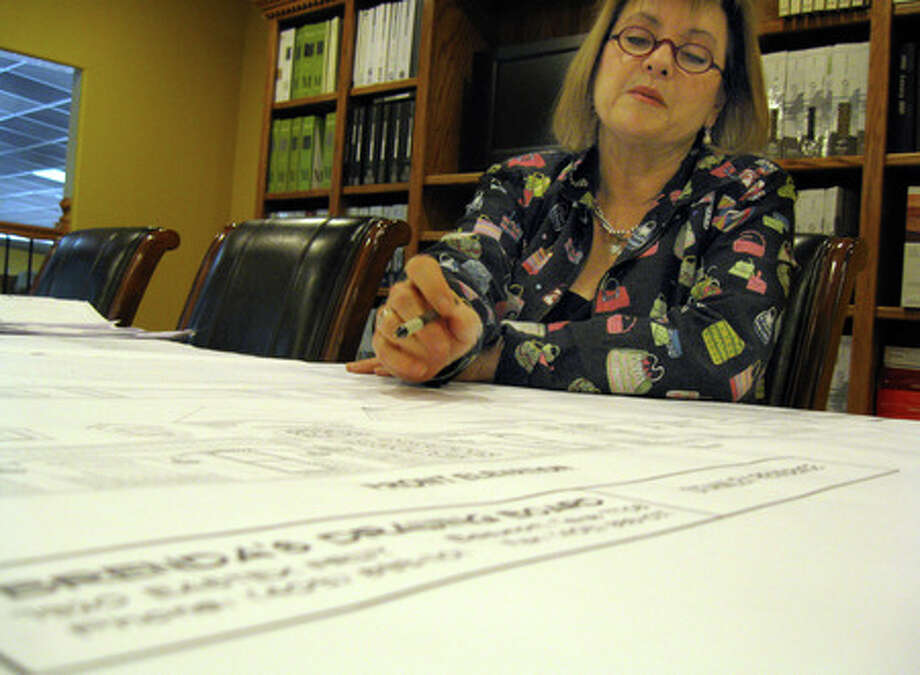 Brenda Abshire, owner of Brenda's Drawing Board, has been in the drafting and home decorating businesses for 43 years. She creates floor plans for residential homes and commercial businesses. Amy Collins/The Enterprise