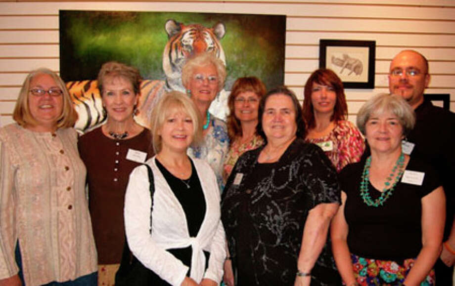 The East Texas Art League in Jasper has chosen new officers. Pictured left to right are Alice Powell, President; Judy Popejoy, Secretary;  Jean Humphrey, Second Vice-president; Patricia Tatum, Board of Directors; Jeannie Binder, First Vice-president;  Imogene Mitchum , Treasurer; Tina Barrow, Director of the Arts Center; Mary Jane Cole and Calvin Carter, Board of Directors, not pictured is Linda Lang, Board of Directors.  The new officers' terms will begin in July.