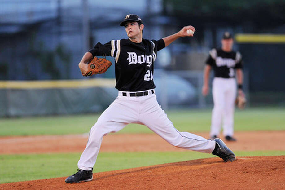 Nederland pitcher Kirby Bellow only allowed one hit to get the 1-0 win  against PN-G in District 20-4A play on Tuesday.